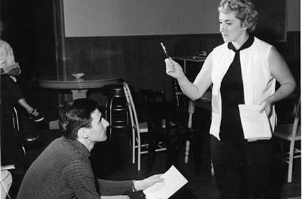 Marilyn Bianchi at rehearsal in early Dobama production