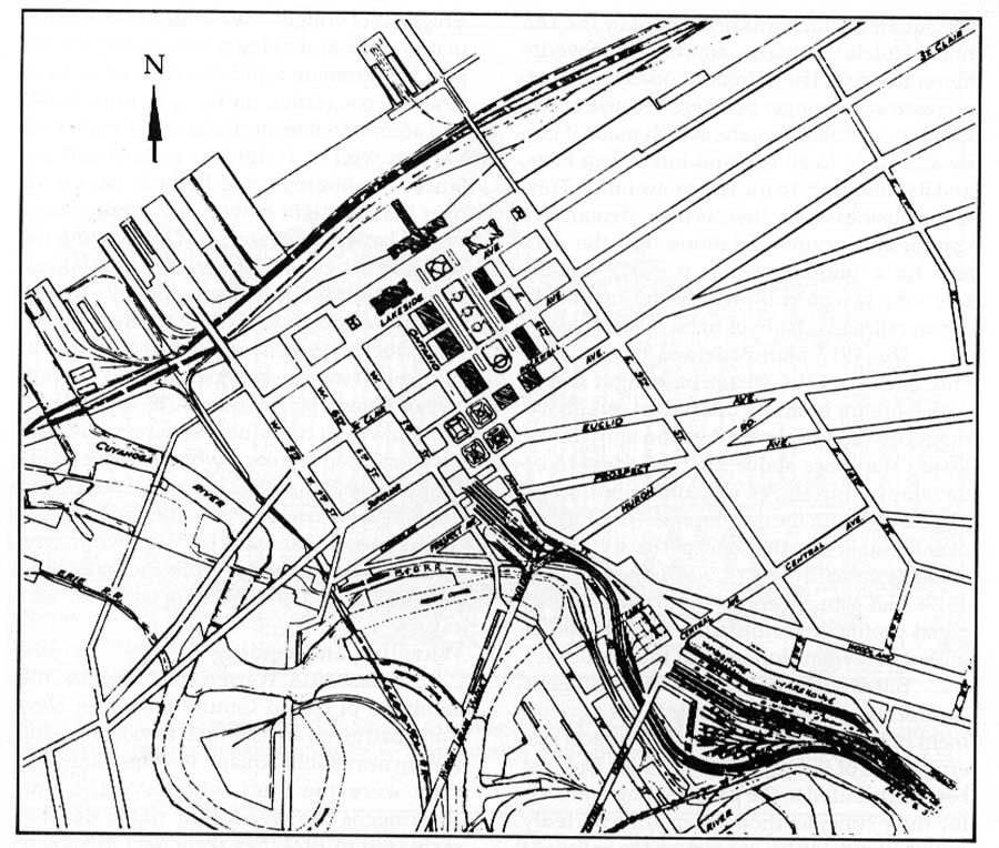 section 3 of walter leedy s article in the gamut cleveland s Rental 15 Passenger Van Interior engineering drawing of track layout in downtown area